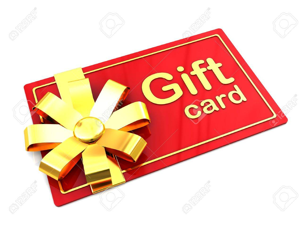 3d Illustration Of Plastic Gift Card Over White Background Stock ...