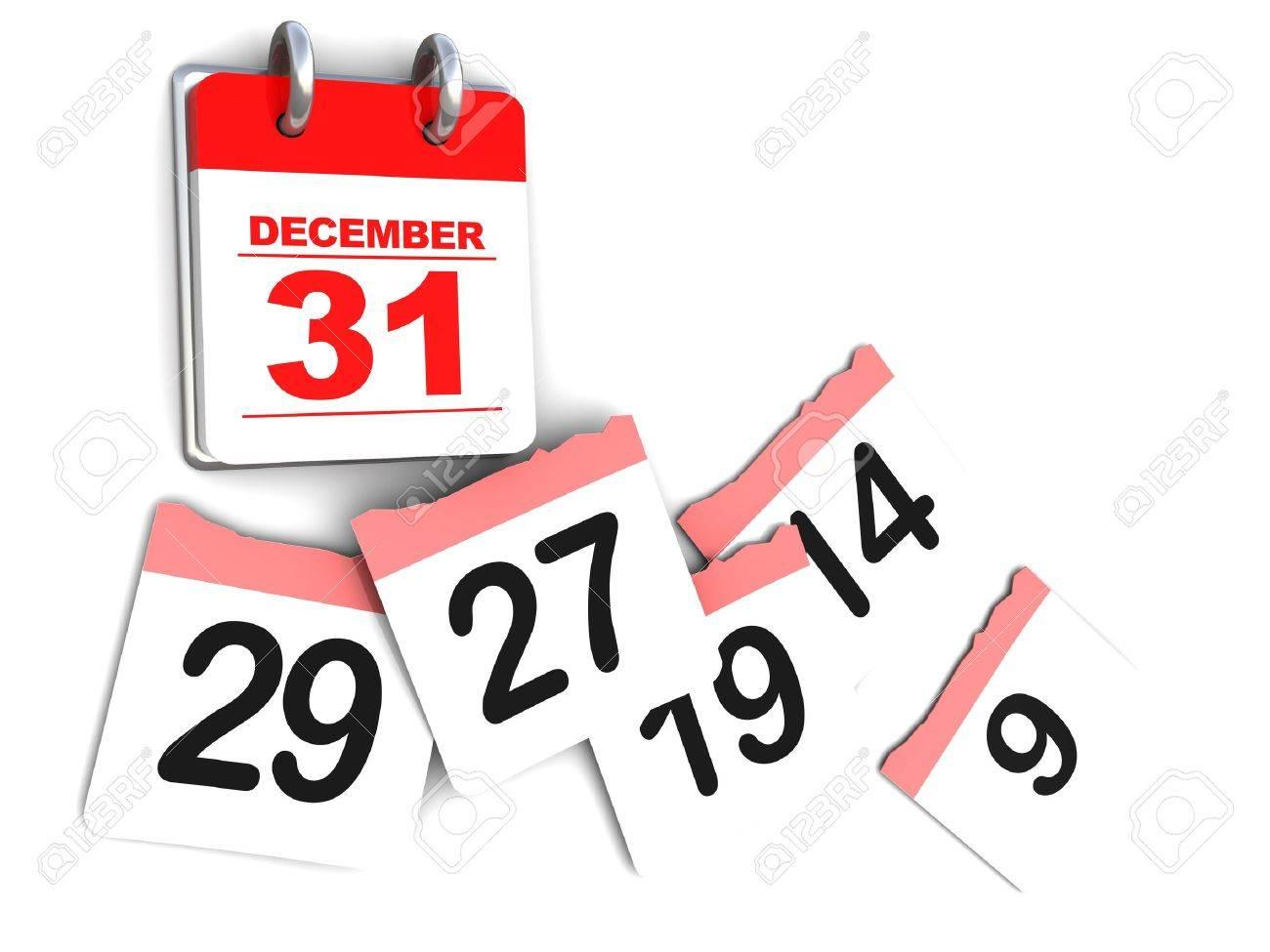 3d Illustration Of Calendar Over White Background, Days Passing ...