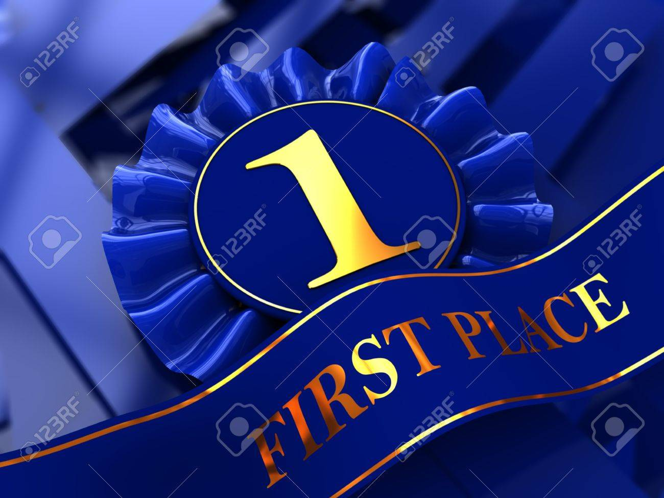 abstract 3d illustration of first place award background Stock Photo - 8534592