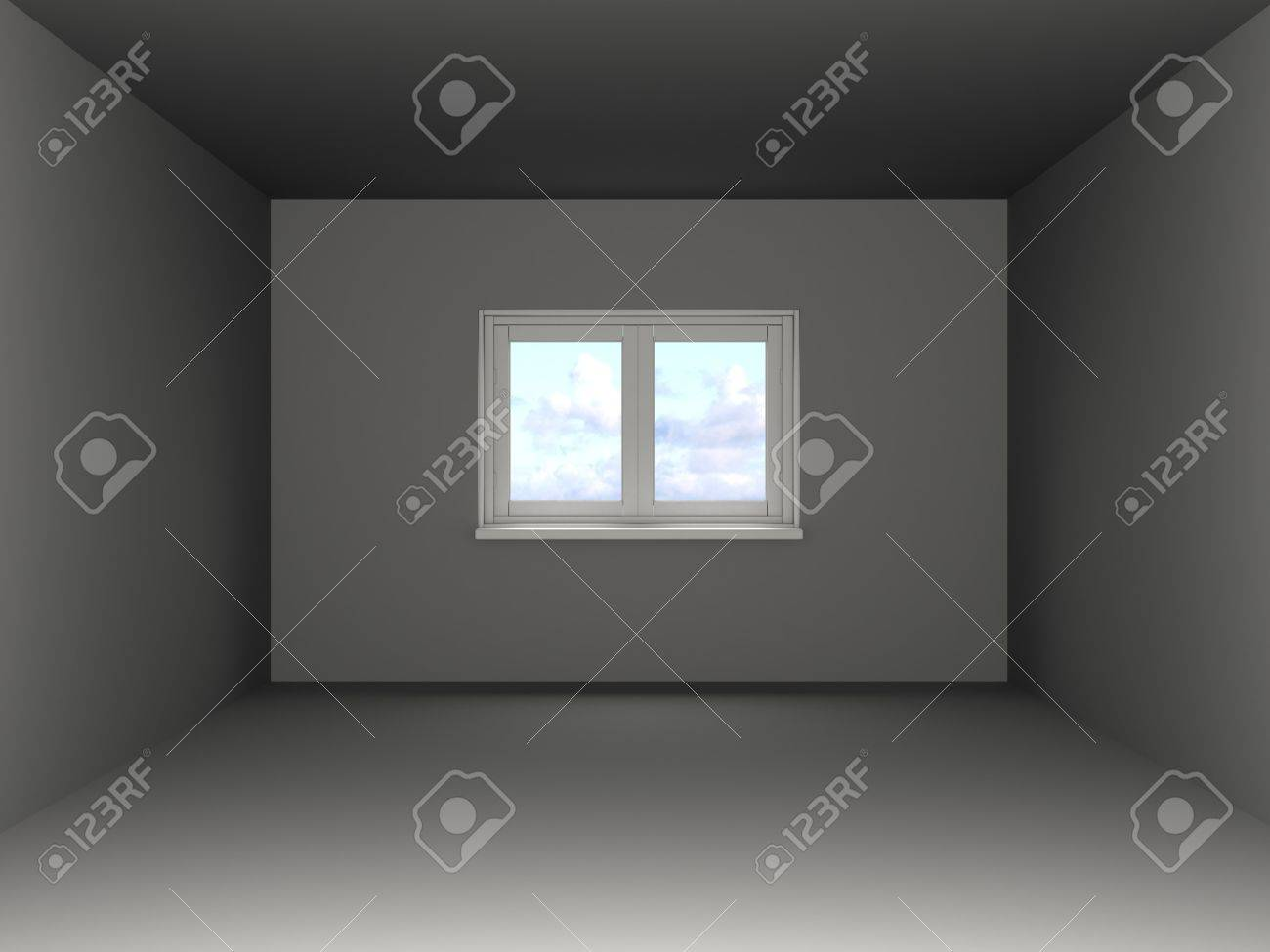 3d illustration of empty room template Stock Photo - 9187188