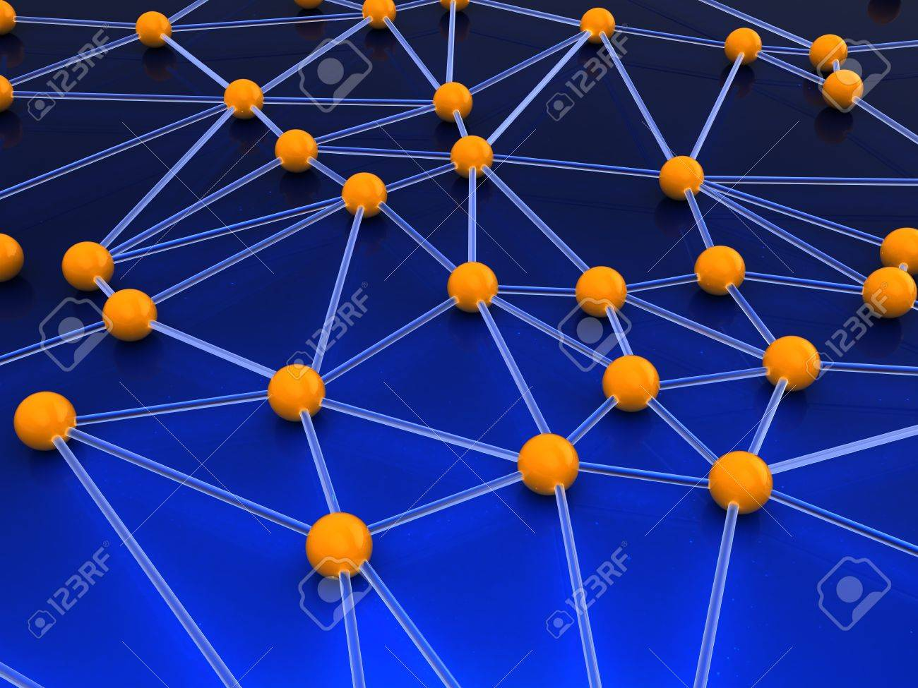 abstract 3d illustration of network structure concept Stock Illustration - 9351257