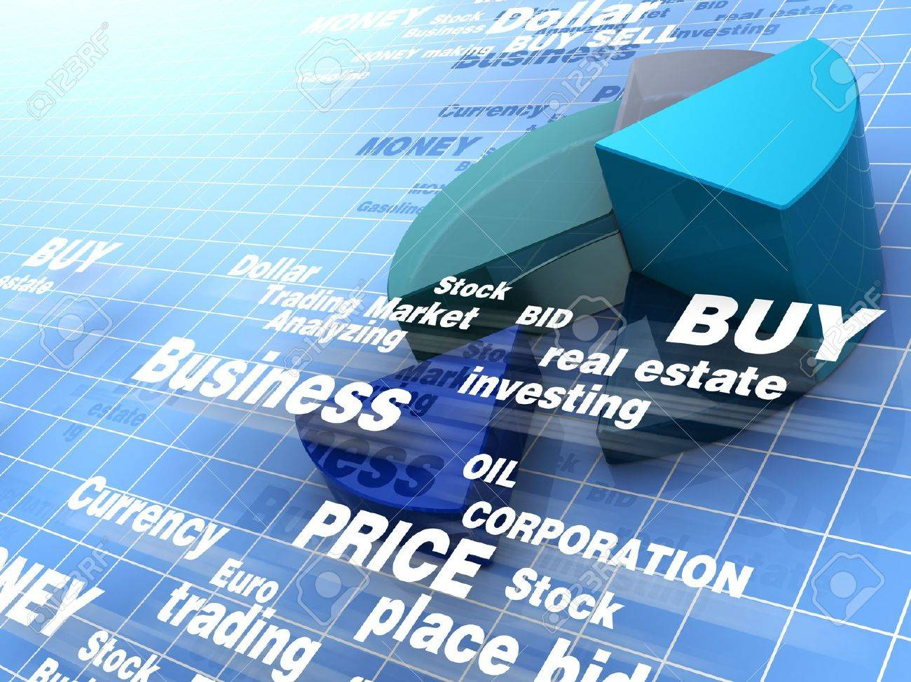 abstract 3d illustration of business background Stock Illustration - 9351419