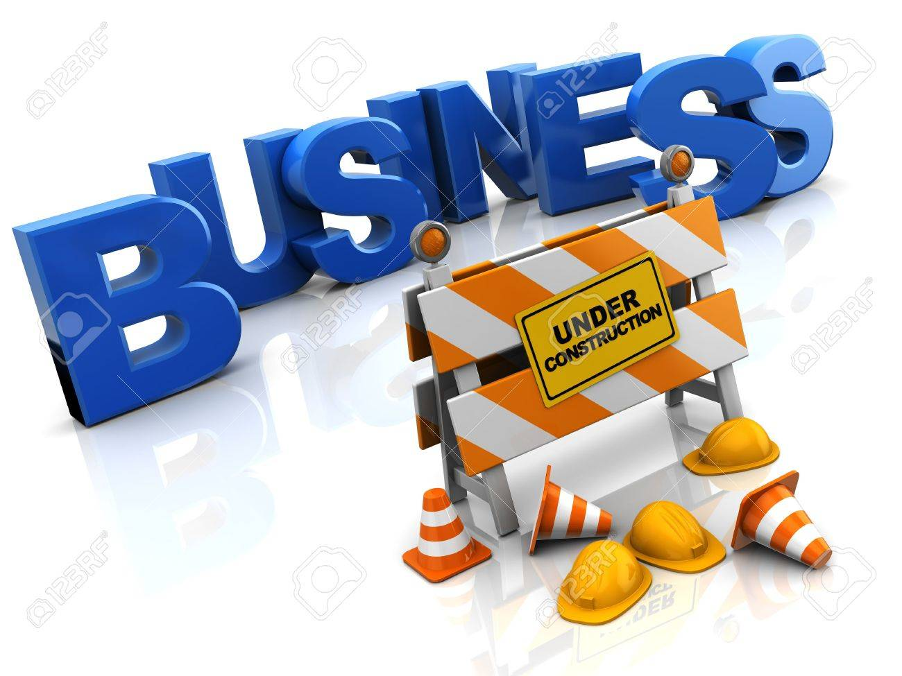 abstract 3d illustration of building business concept Stock Photo - 9518829