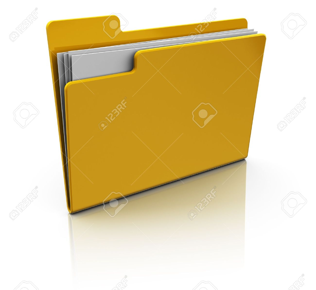 3d illustration  of yellow folder icon over white background Stock Illustration - 9732096