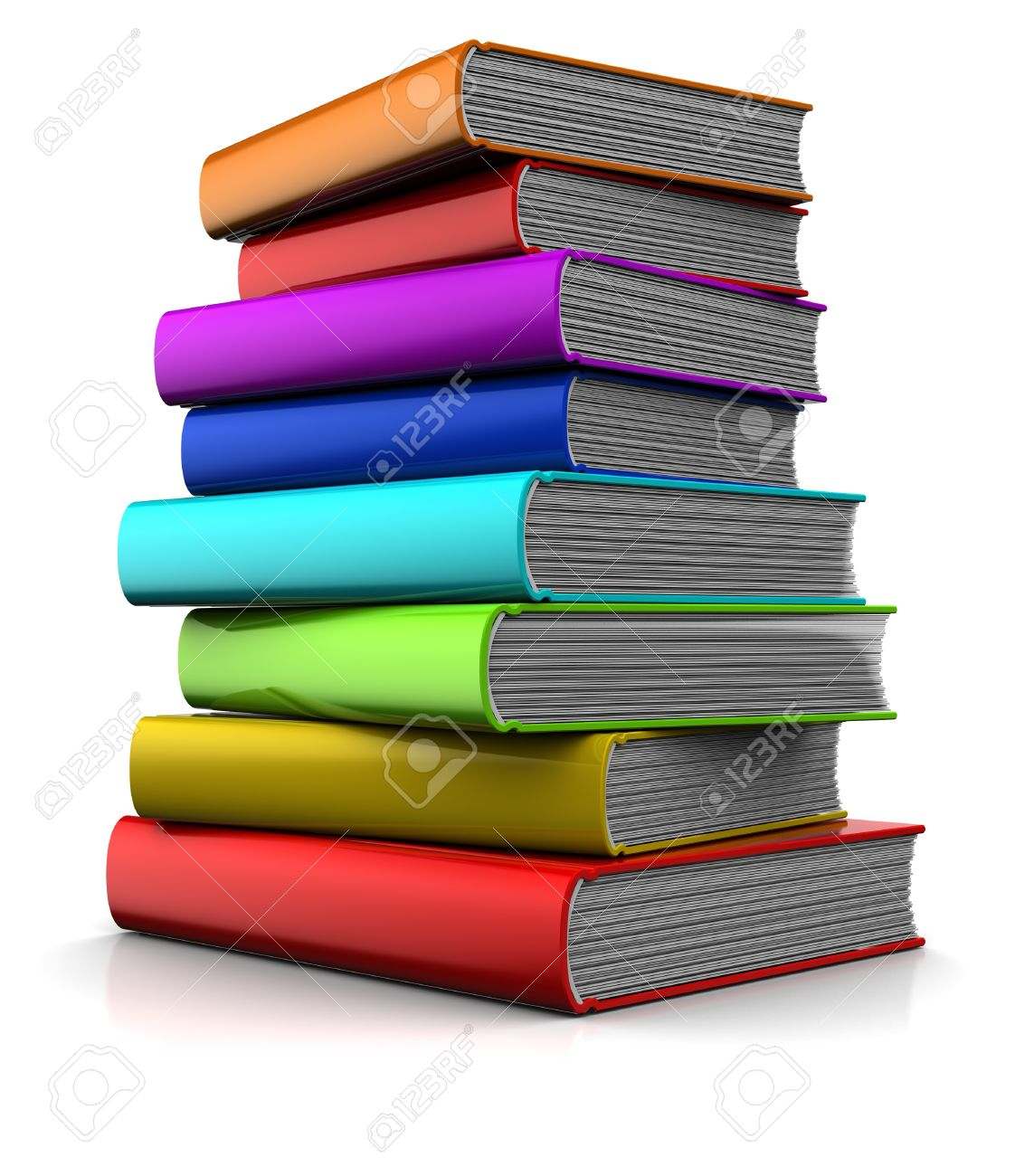 3d Illustration Of Colorful Books Stock Photo, Picture And Royalty ...