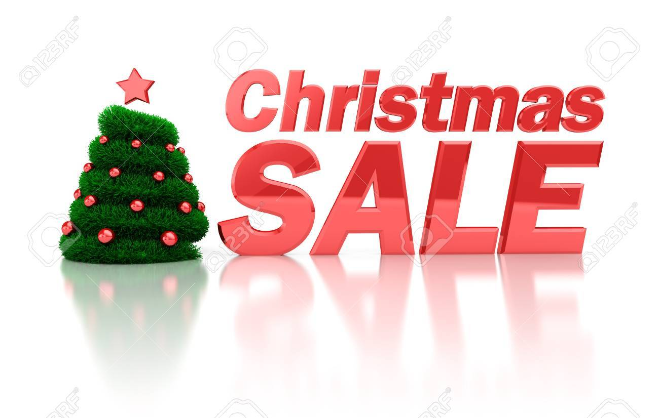 abstract 3d illustration of christmas sale symbol Stock Photo - 11788025