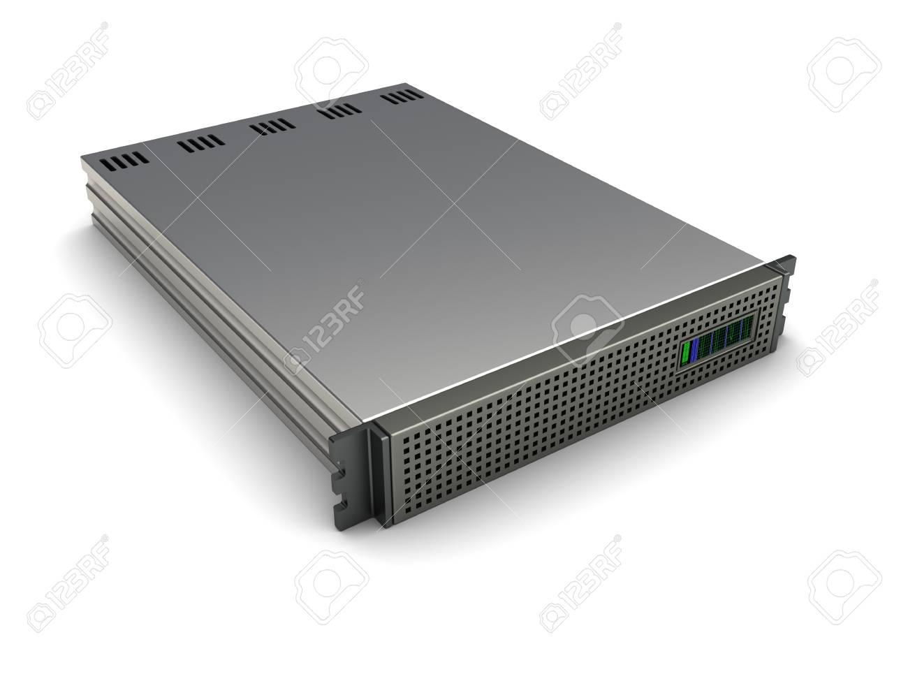 3d image, server equipment isolated on white background Stock Photo - 16291008