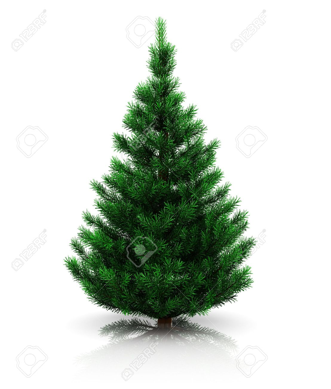 3d Ilustracin De rbol De Navidad Sin Decoracin Sobre Fondo Blanco