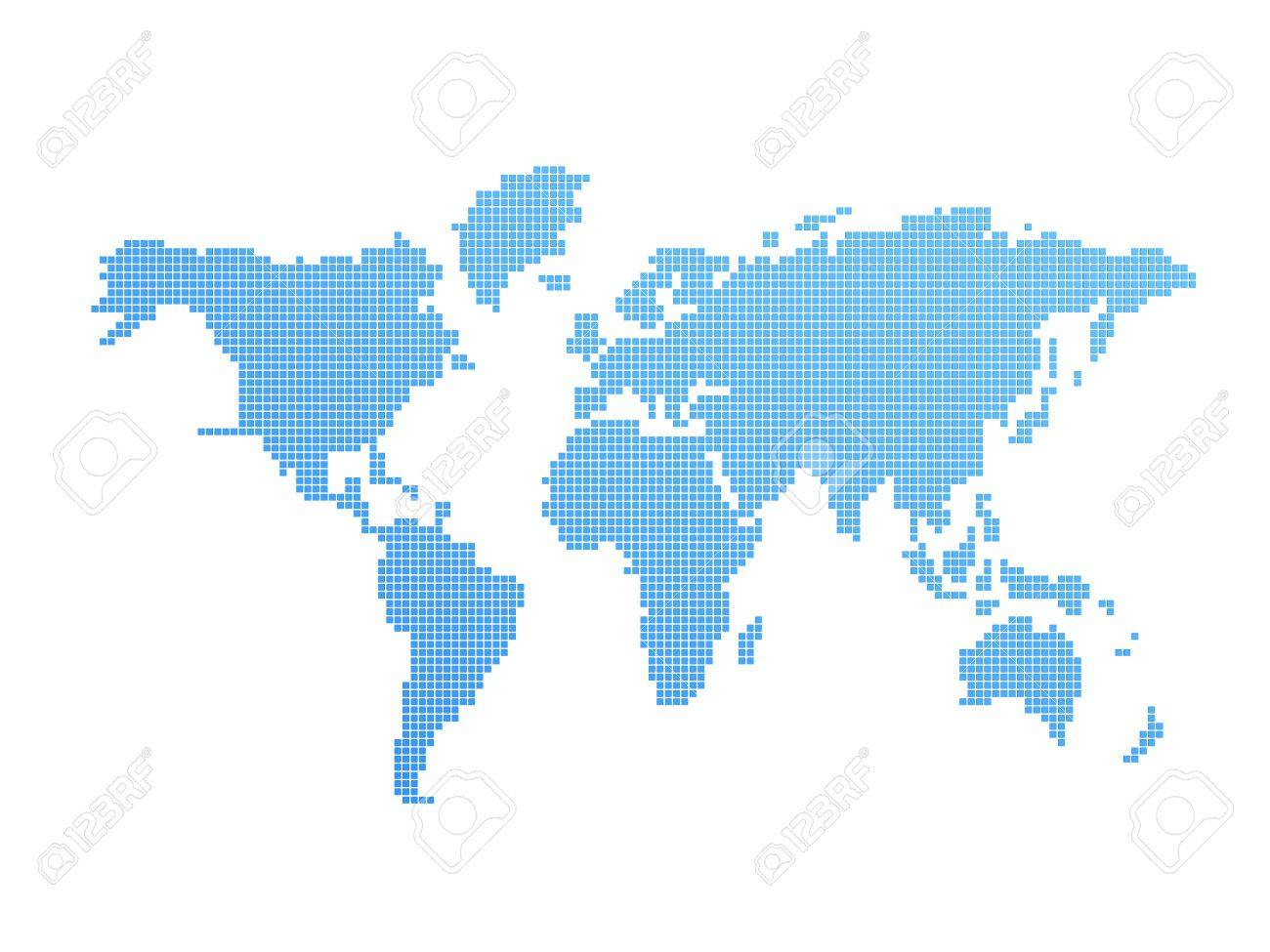 digital model of world blue and white geography map stock photo  . digital model of world blue and white geography map stock photo