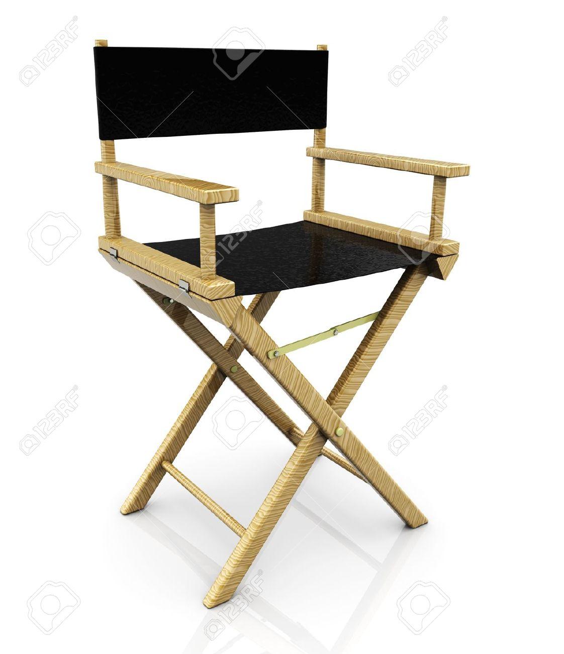 3d Illustration De La Chaise De Réalisateur De Cinéma, Sur Fond ...
