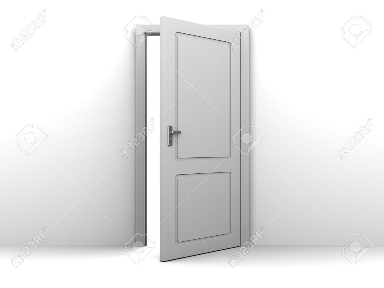 Delicieux 3d Illustration Of Half Open Door Stock Illustration   59199277