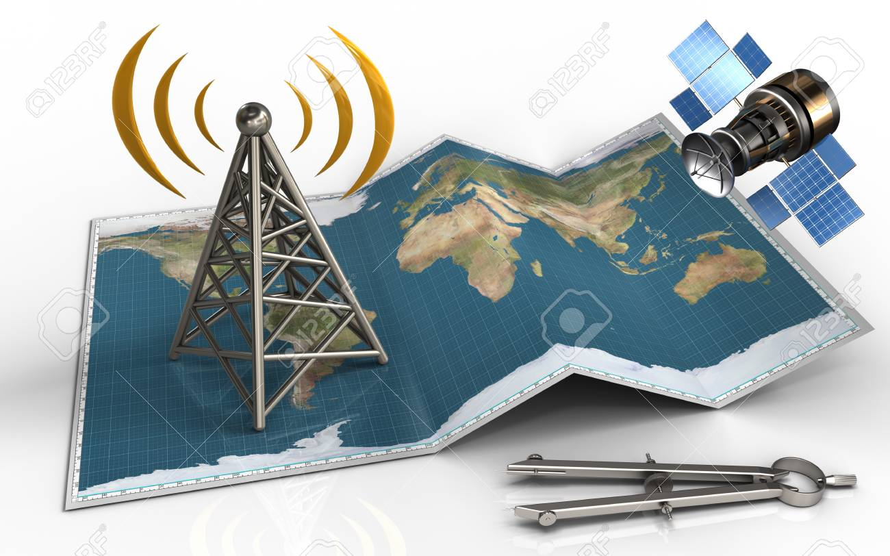 3d illustration of world map with antenna and gps satellite stock 3d illustration of world map with antenna and gps satellite stock illustration 85072765 gumiabroncs Image collections