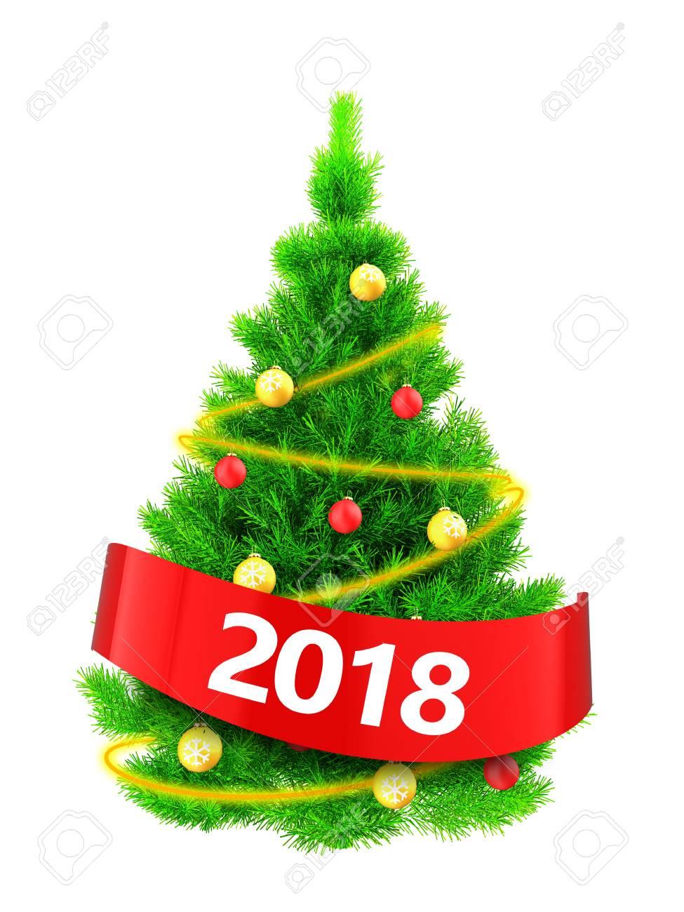 Immagini Dell Albero Di Natale.Illustrazione 3d Dell Albero Di Natale Verde Al Neon Sopra Priorita Bassa Bianca