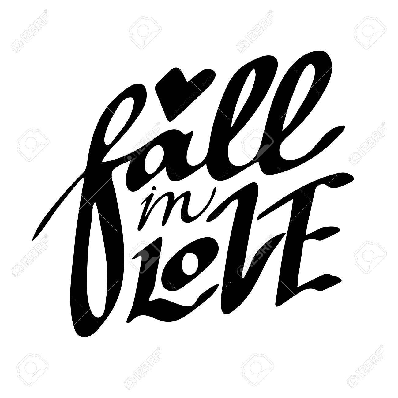 Enamórate Frase De Amor Para El Día De San Valentín En La Boda Estilo Hipster Moderno Caligrafía Letras De Mano