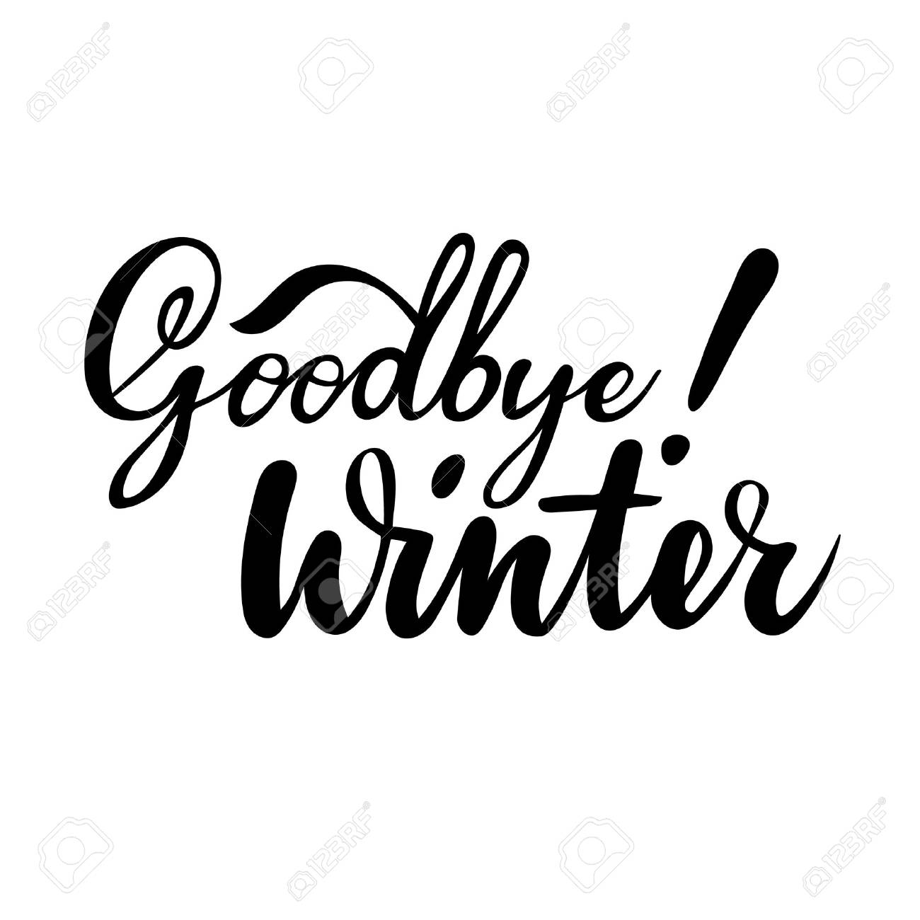 farewell greeting card with phrase goodbye winter vector isolated rh 123rf com