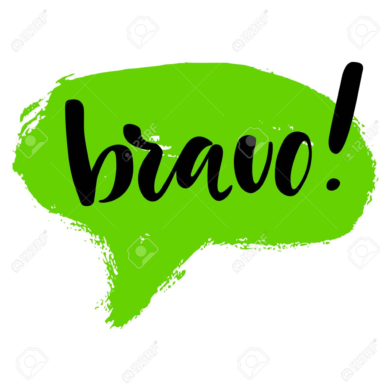Image Bravo bravo greeting and congratulation card. a phrase for successful