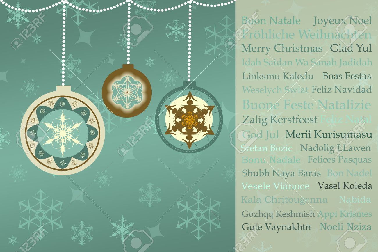Christmas greetings in many languages on retro christmas background christmas greetings in many languages on retro christmas background stock photo 32984808 m4hsunfo