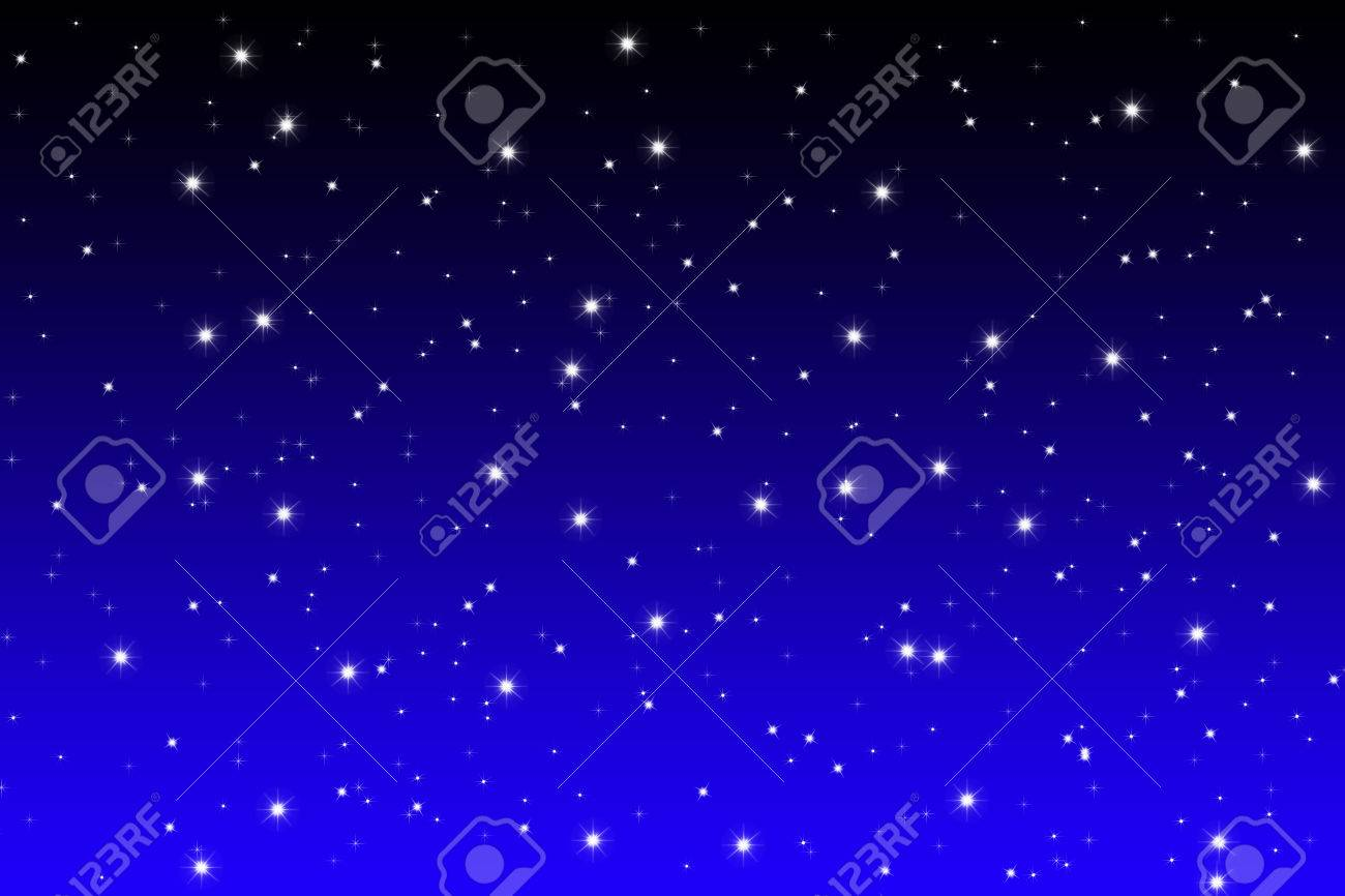 Simple Designed Starfield Background On Blue And Black Night Stock Photo Picture And Royalty Free Image Image 40542633