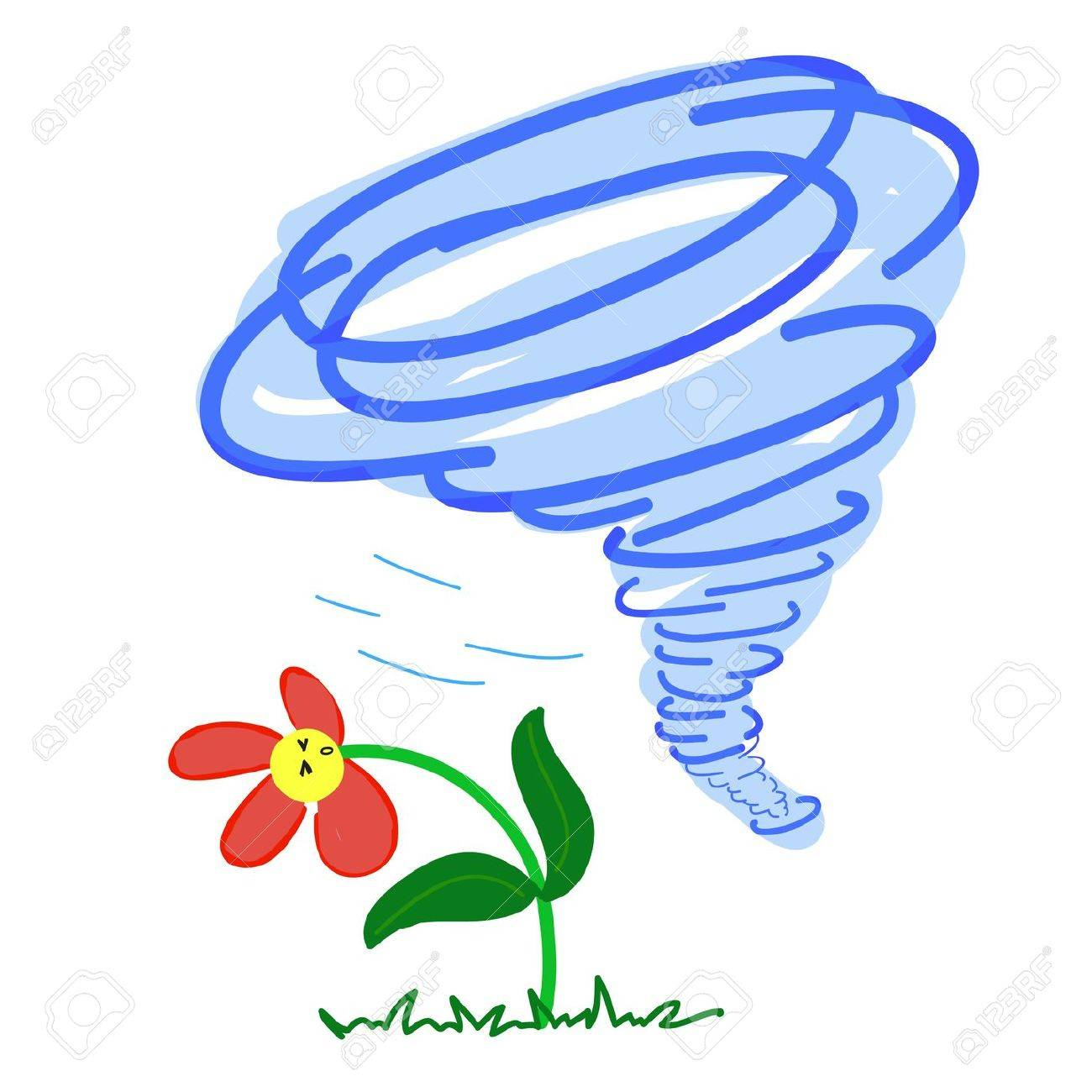 Flower in a Storm on White background Stock Vector - 19533304