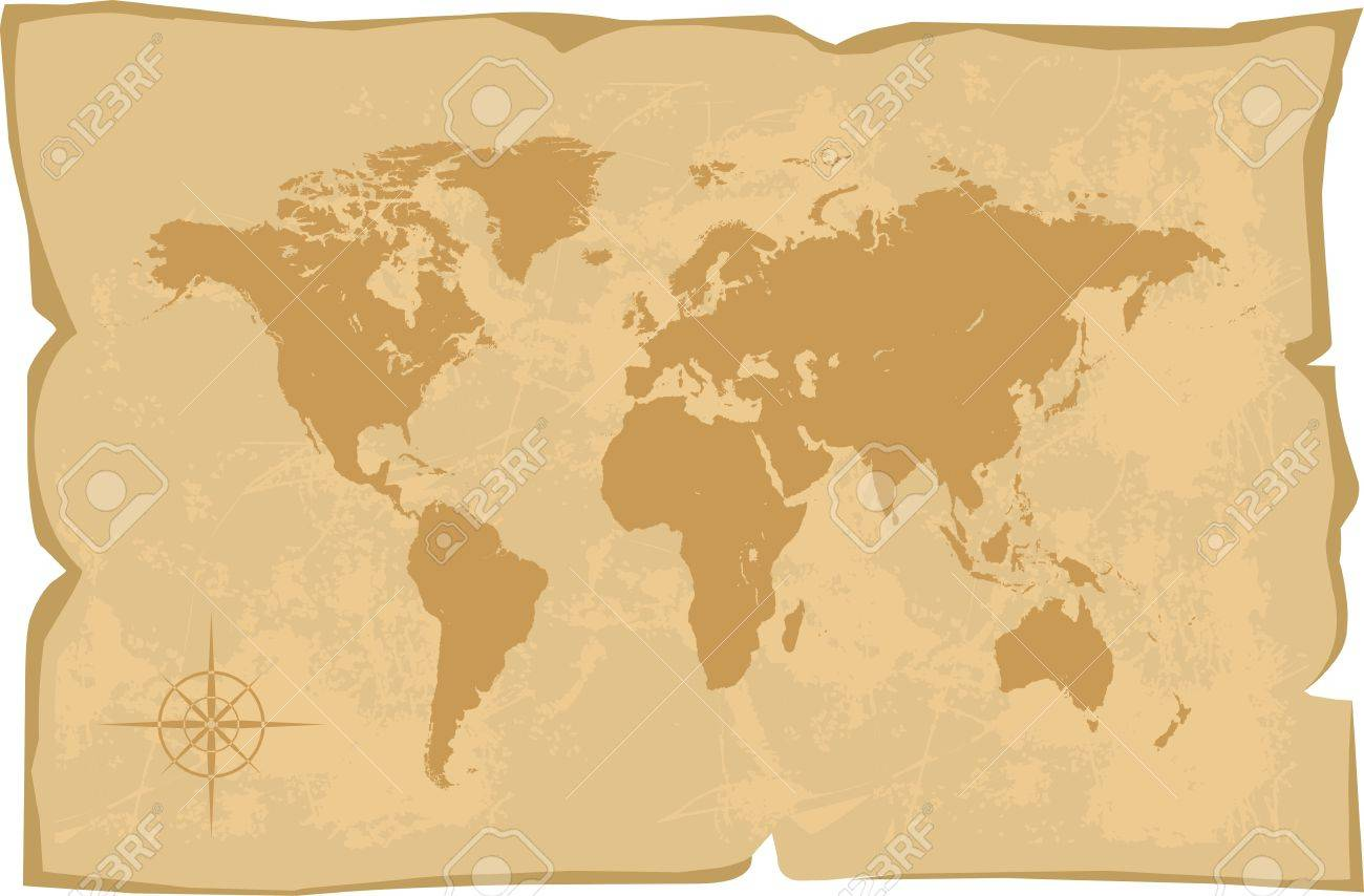vector world map old style vector