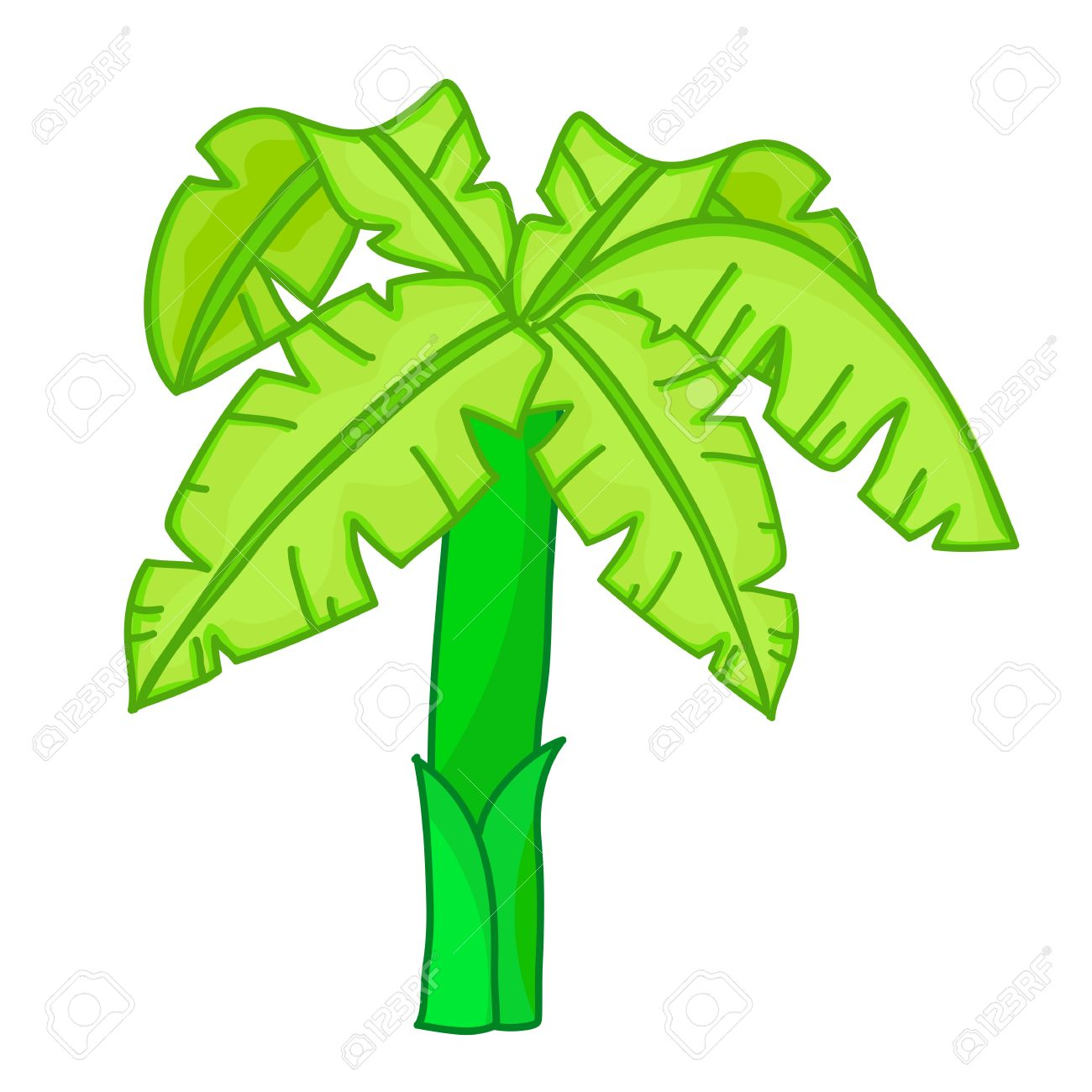 Banana Tree Leaf Clip Art – Clipart Download