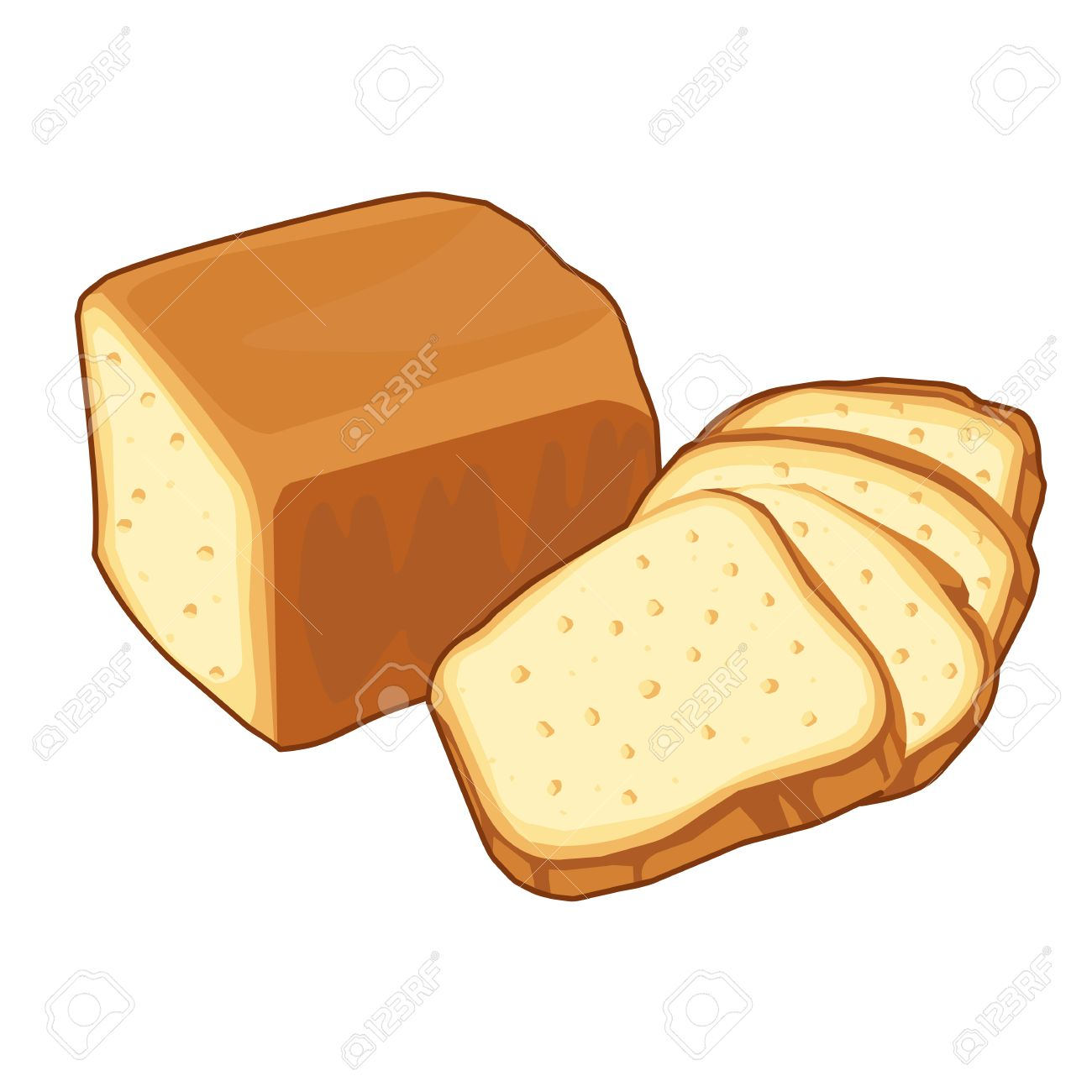 bread loaf Isolated illustration on white background - 22968801