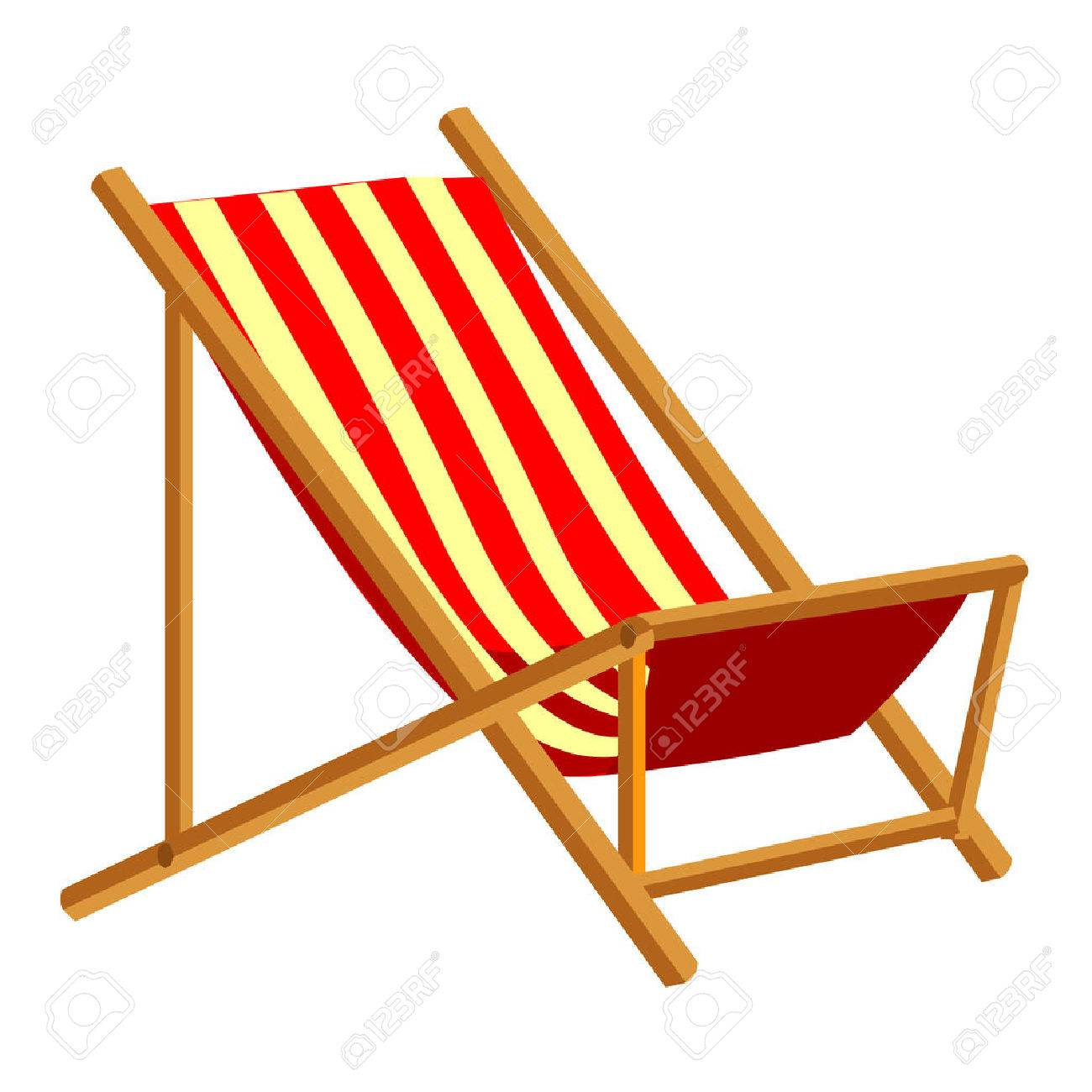 Beach Chair Vector beach chair isolated illustration on white background royalty free