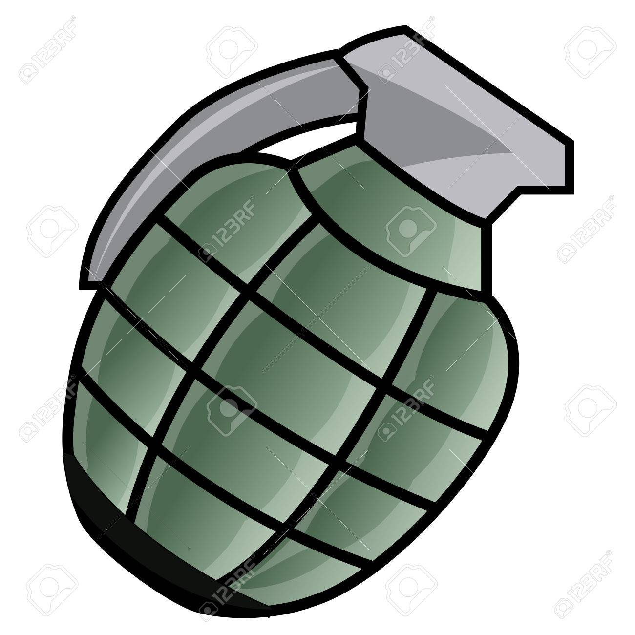 hand grenade isolated illustration on white background royalty free rh 123rf com Hand Grenade Fuse WW2 Hand Grenades