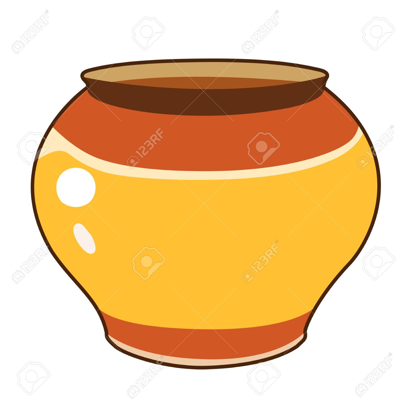 clay pot isolated illustration on white background royalty free rh 123rf com Clay Pots Clay Pots
