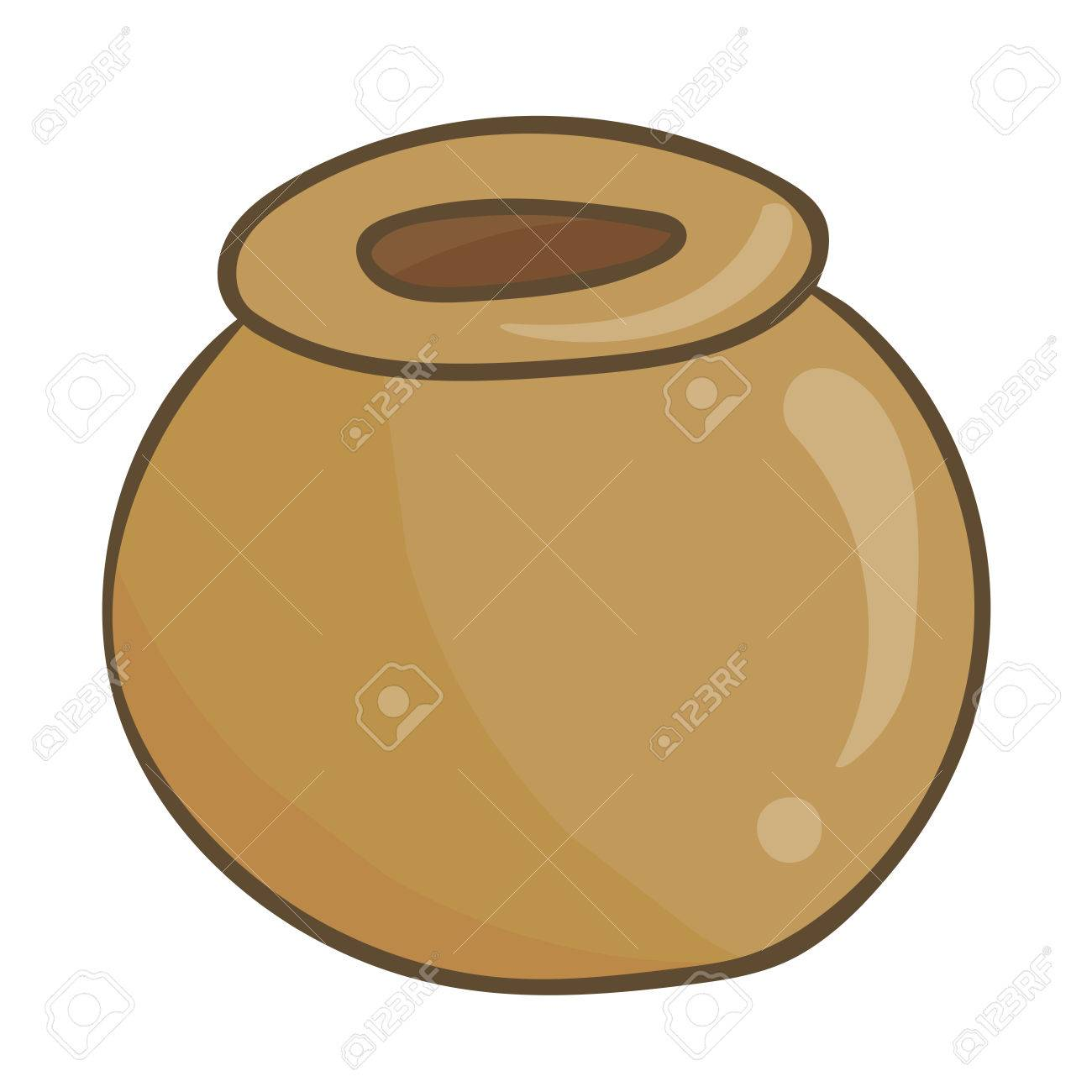 Clay Pot Isolated Illustration On White Background Royalty Free ...