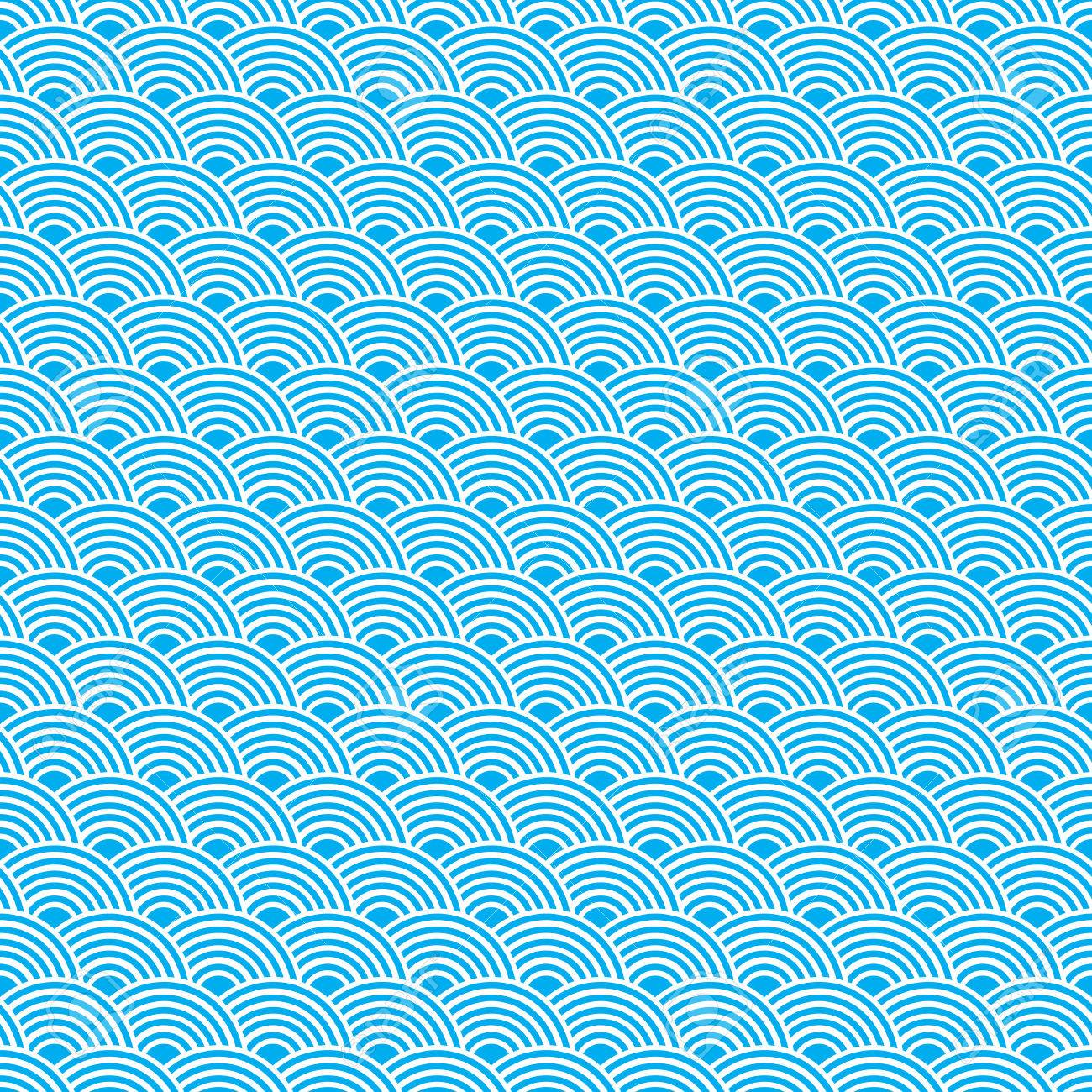 Ocean Wave Pattern Simple Inspiration Design