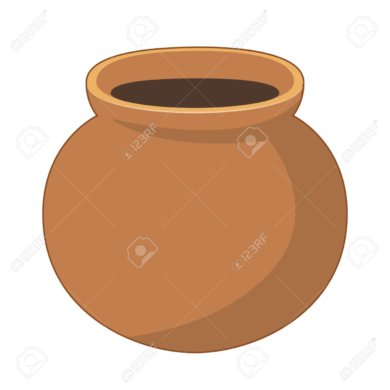 clay pot isolated illustration on white background royalty free rh 123rf com Ancient Pots Earthen Pot for Cooking