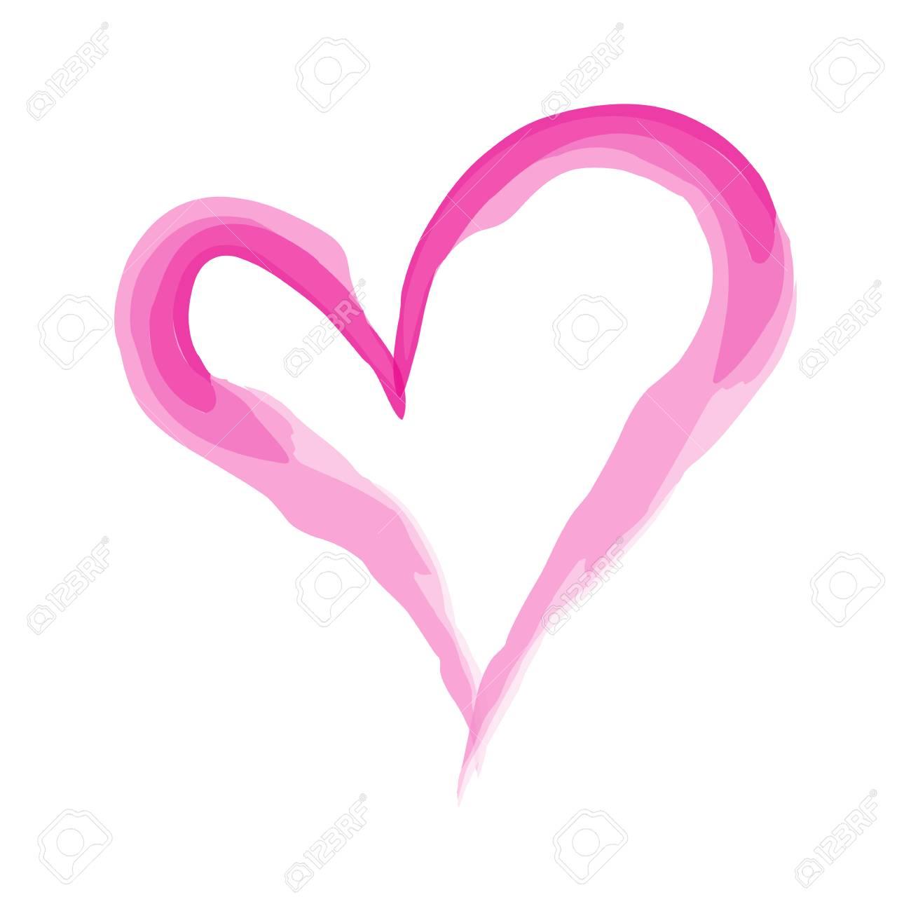 Heart Shape Design For Love Symbols Valentines Day