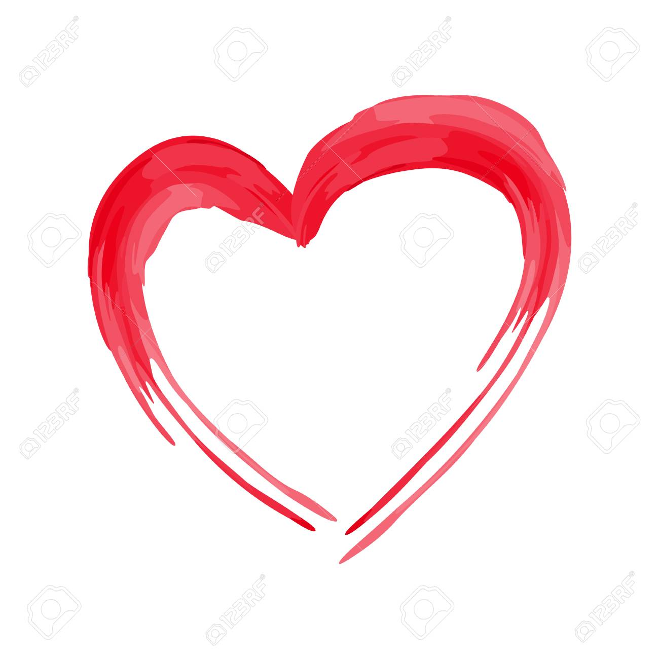 Heart Shape Design For Love Symbols Valentines Day Royalty Free