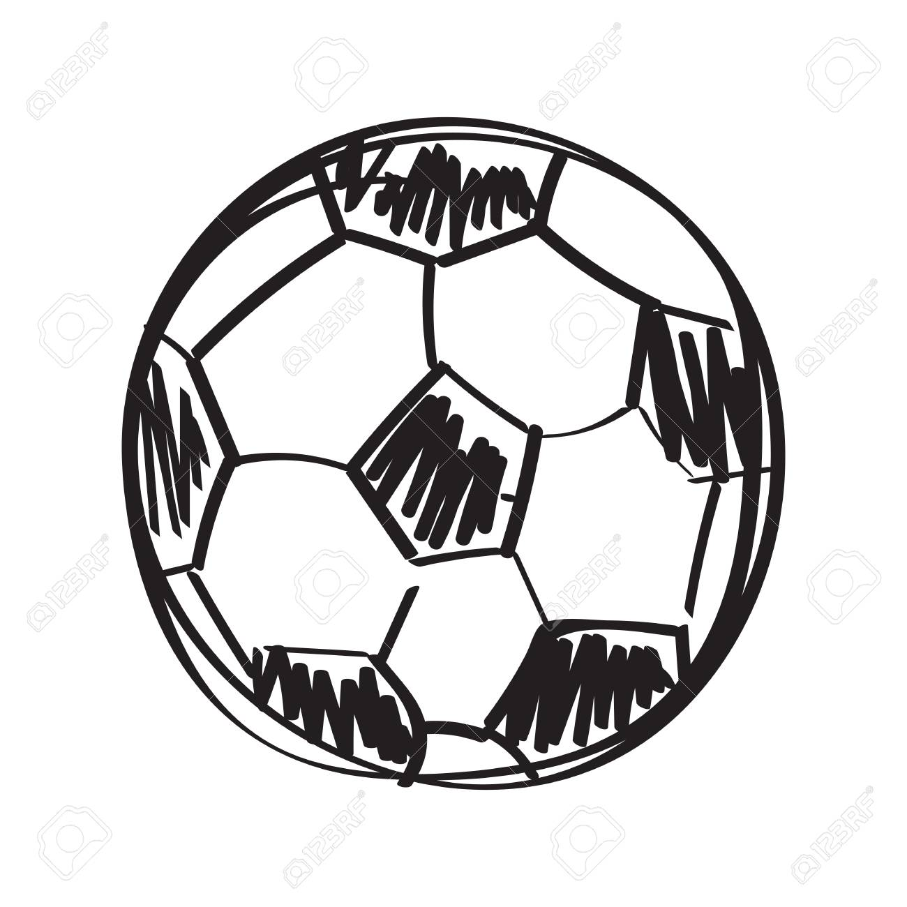 Hand drawn football sketch isolated illustration on white background stock vector 98984615