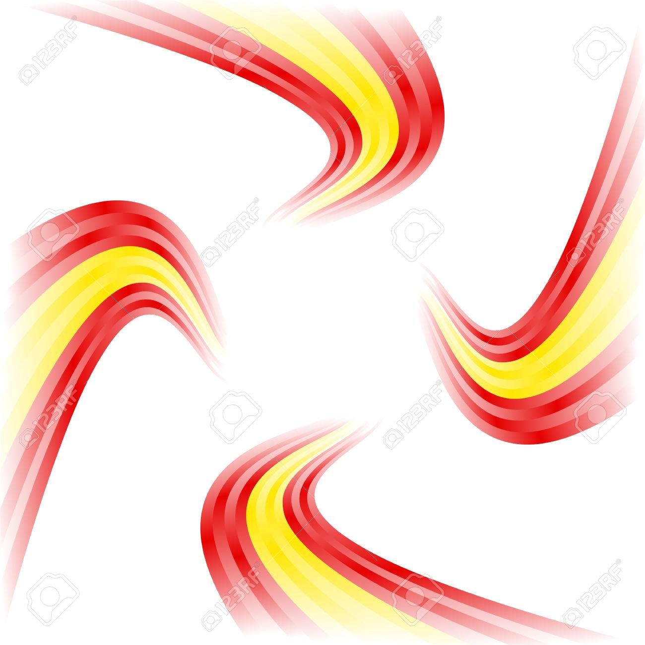 Abstract waving spanish flag isolated on white background royalty abstract waving spanish flag isolated on white background stock vector 22724752 voltagebd Gallery
