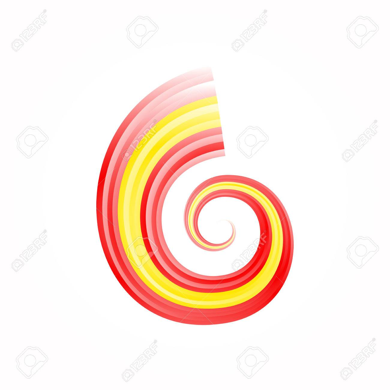 Abstract swirl Spanish and Macedonian flag isolated on white Stock Vector - 22786218