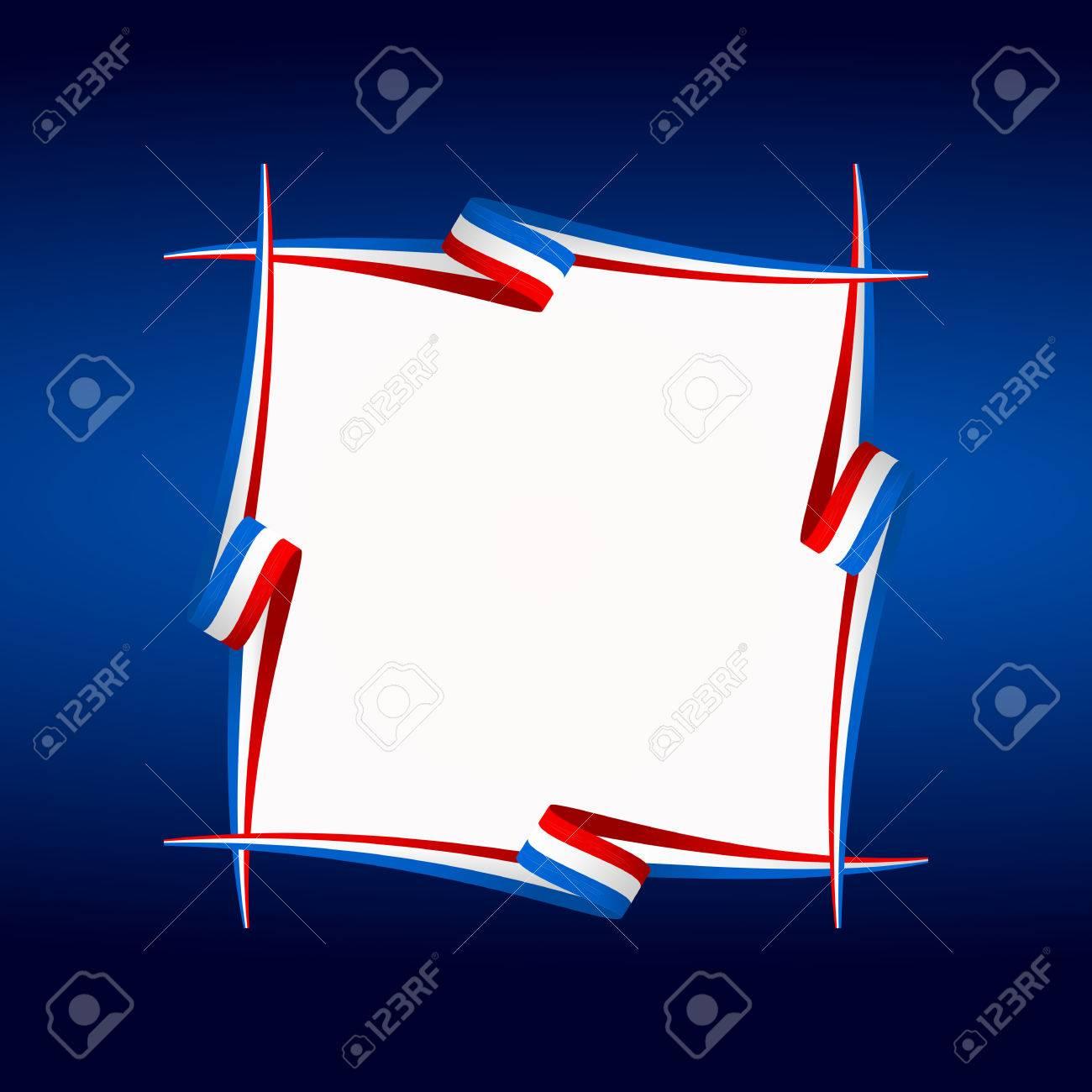 Abstrakt Amerikanischen, Englisch Und Französisch Rahmen Flagge ...