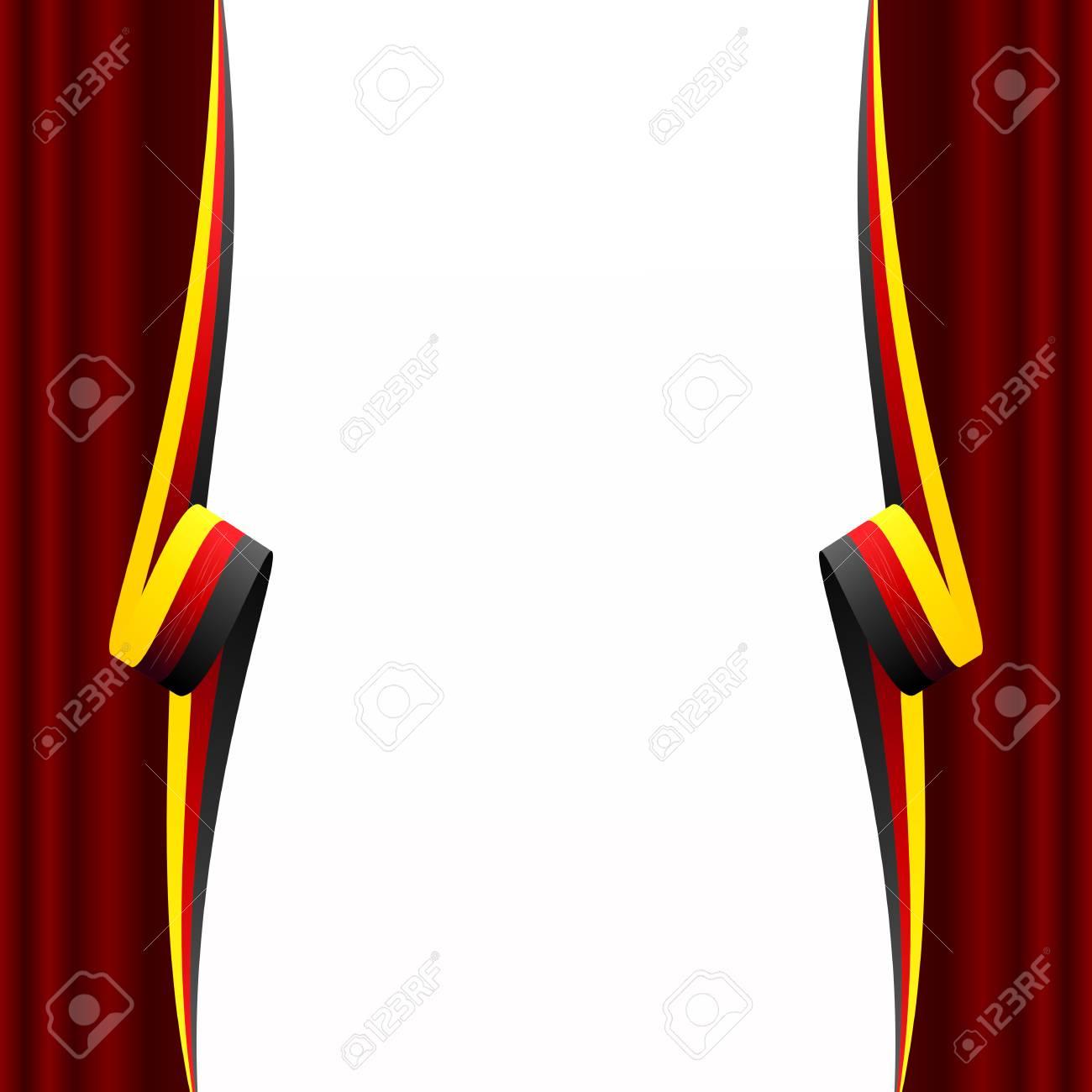 Abstract Duitse Gordijn Vlag Geïsoleerd Op Witte Achtergrond Royalty ...