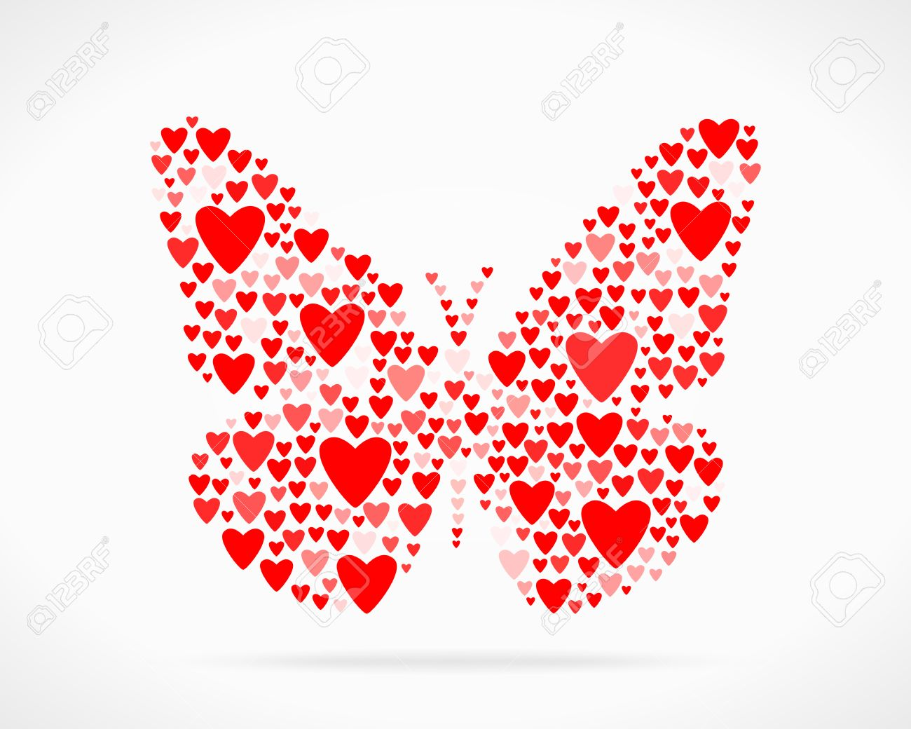 Valentine Day Love Declaration Butterfly Stock Vector   24796557