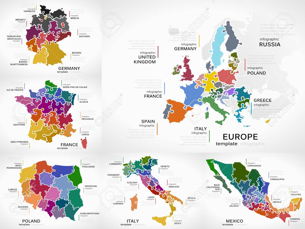 Map Of Germany France.Maps Infographic Collection Pack With Europe Germany France