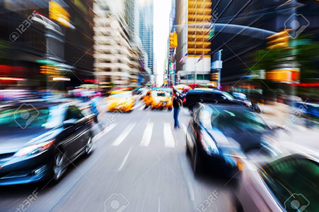 creative picture of a traffic scene in Manhattan, NYC - 52178306
