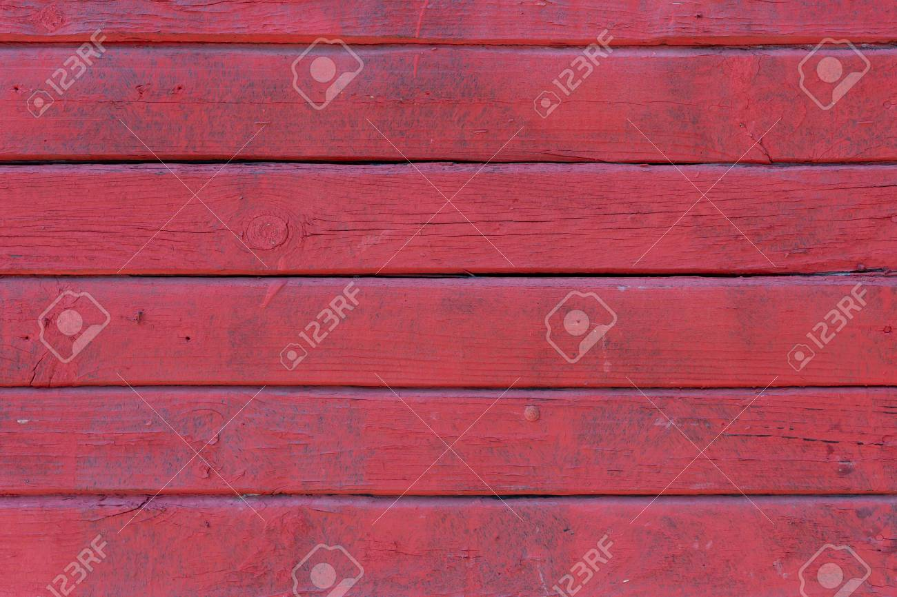 Old painted wood wall - texture or background. - 125290310