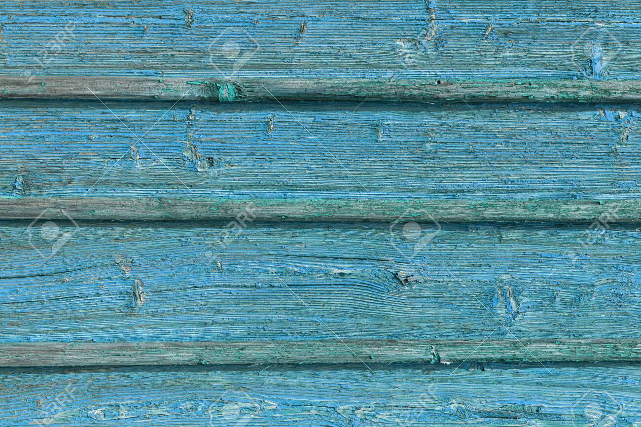 The old blue wood texture with natural patterns. - 130637033