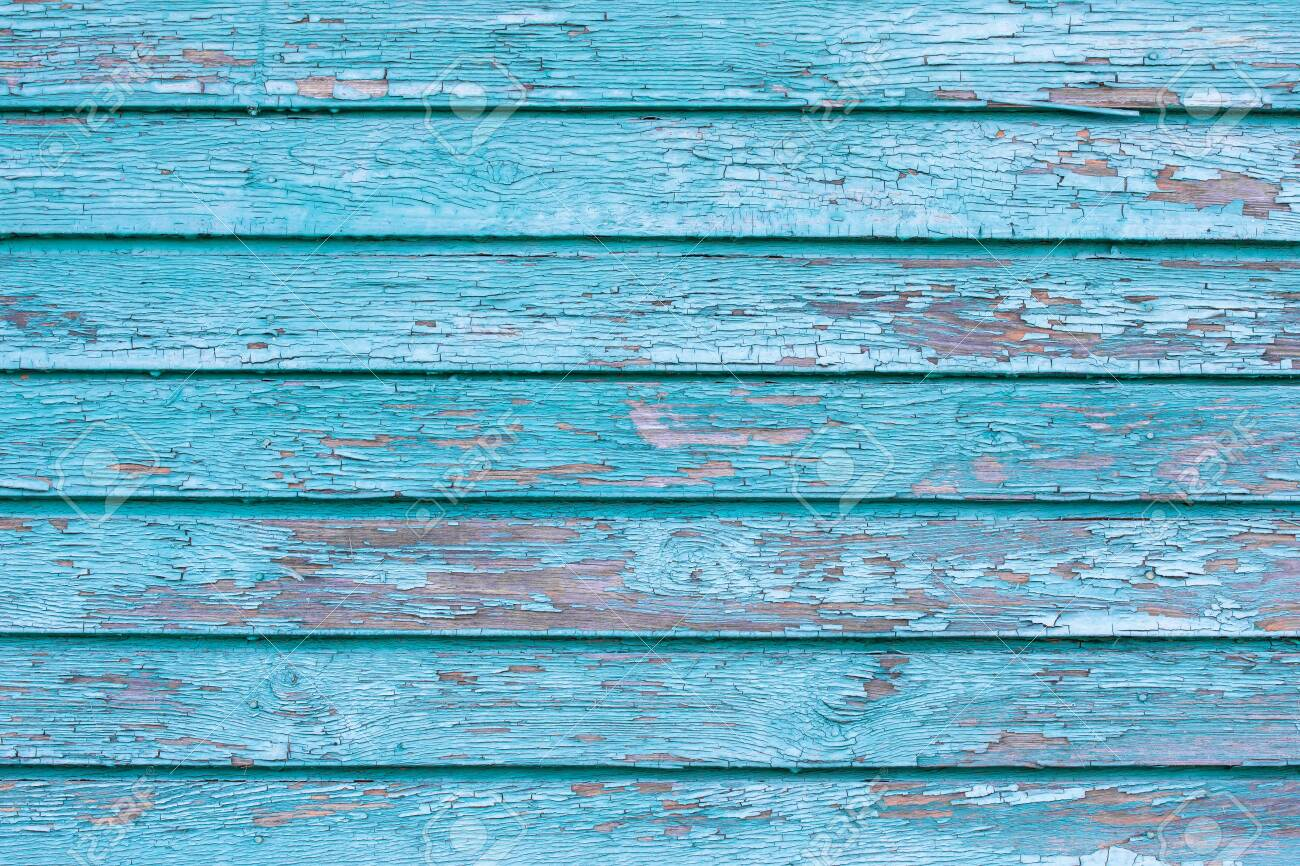 The old blue wood texture with natural patterns. - 136915319
