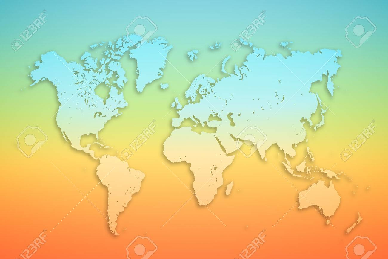 World map on colored background tourism concept banner or poster stock photo world map on colored background tourism concept banner or poster gumiabroncs Image collections