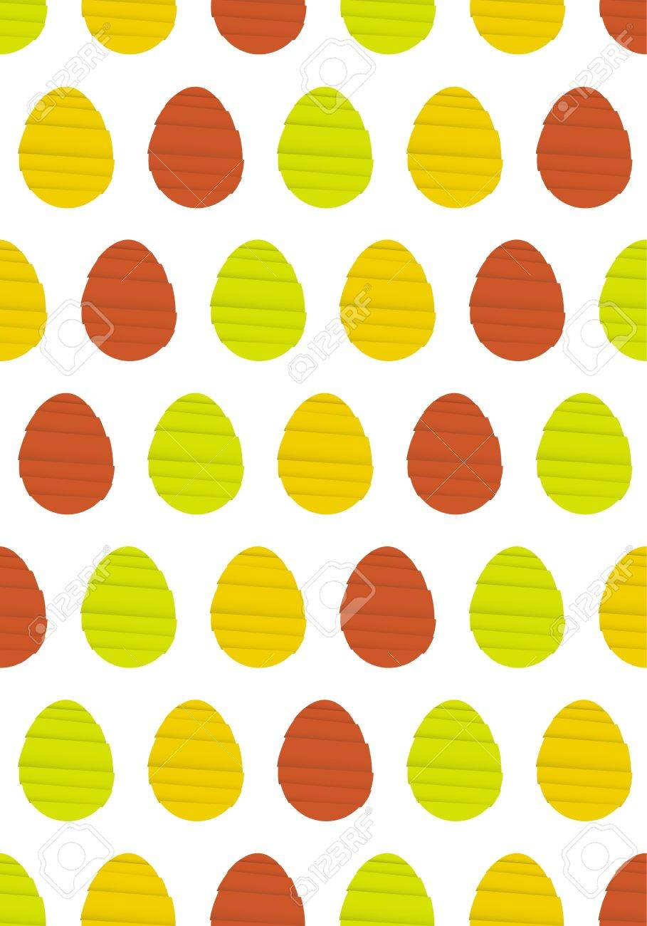 Abstract Easter Background Made Out Of Origami Style Eggs Egg Pattern Stock Vector