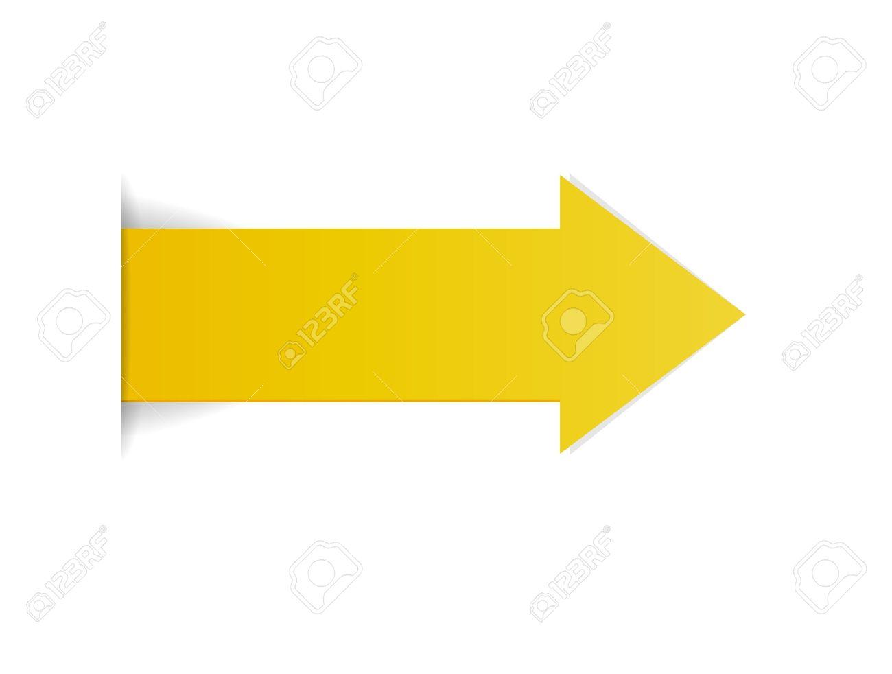 fleche jaune
