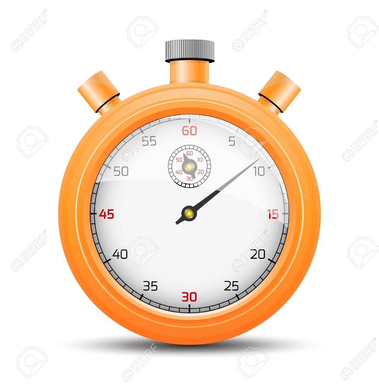 the isolated stopwatch graphic element with shadow the vibrant