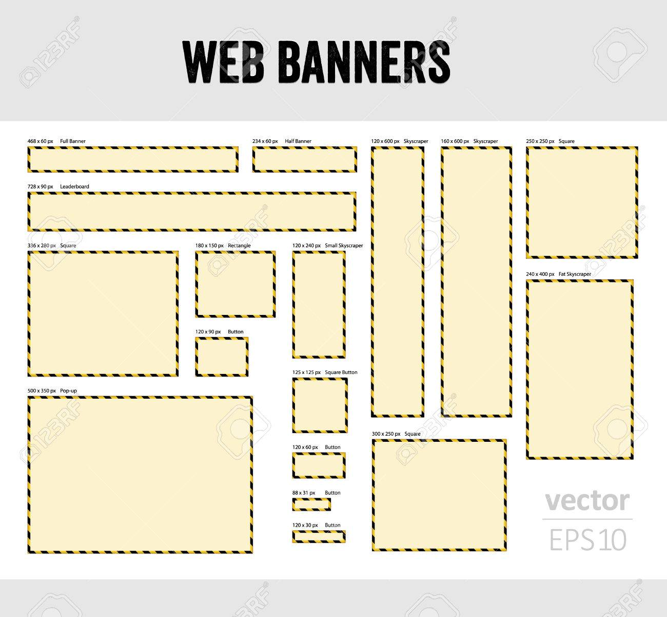 The set of blank web banner templates royalty free cliparts the set of blank web banner templates stock vector 23214065 pronofoot35fo Choice Image